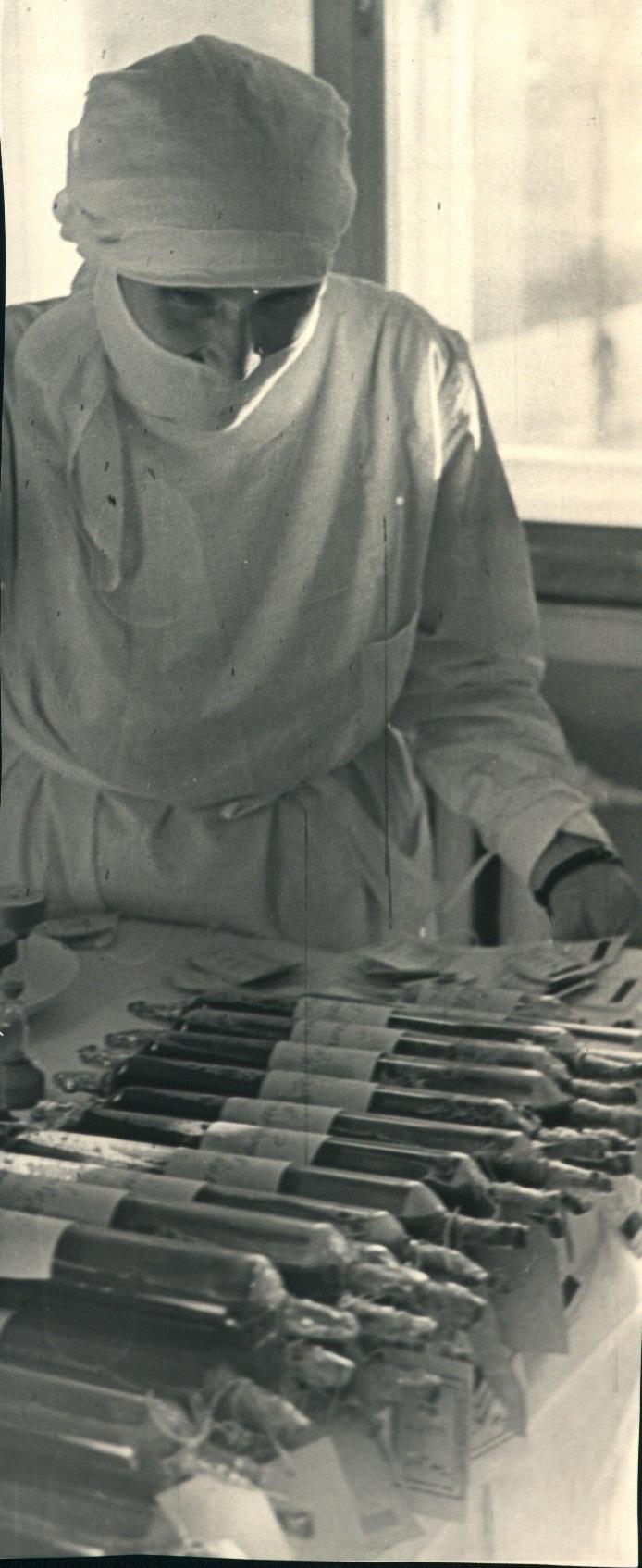 Заготовка крови в годы Великой отечественной войны